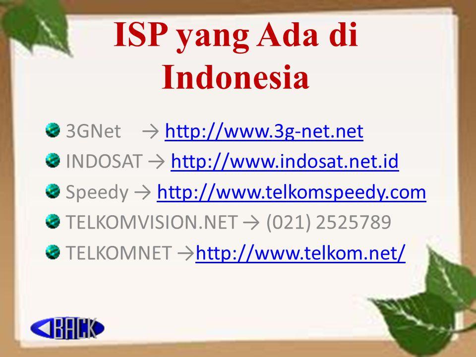 ISP yang Ada di Indonesia