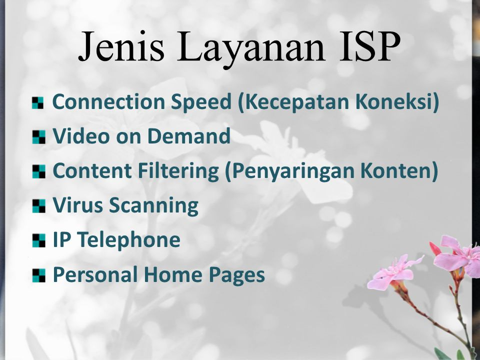 Jenis Layanan ISP Video on Demand