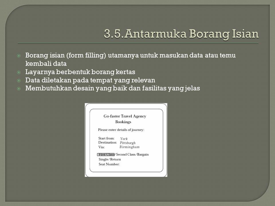 3.5.Antarmuka Borang Isian