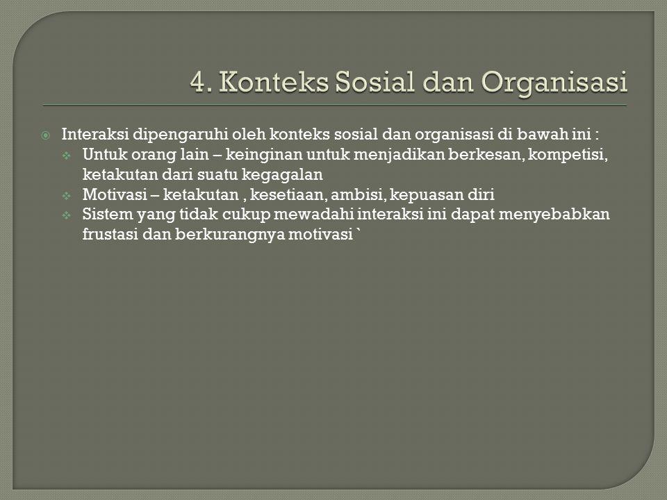 4. Konteks Sosial dan Organisasi