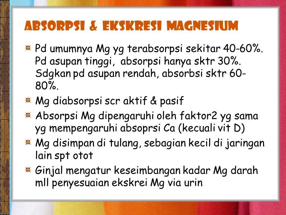 Absorpsi & EKSKRESI magnesium