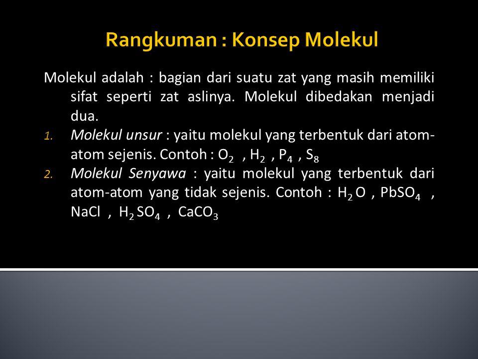 Rangkuman : Konsep Molekul