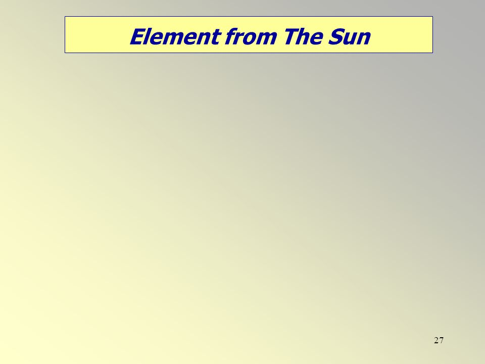 Element from The Sun