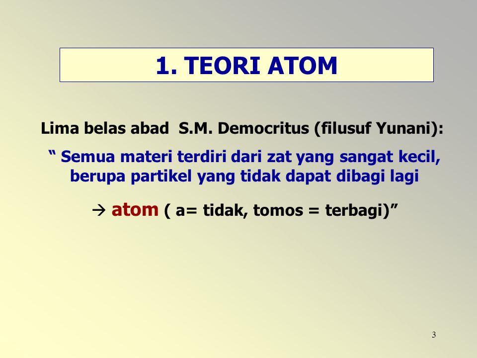  atom ( a= tidak, tomos = terbagi)