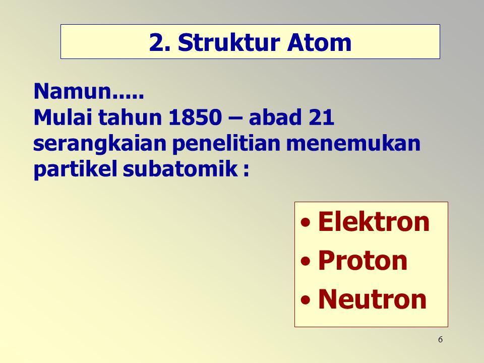 Elektron Proton Neutron 2. Struktur Atom
