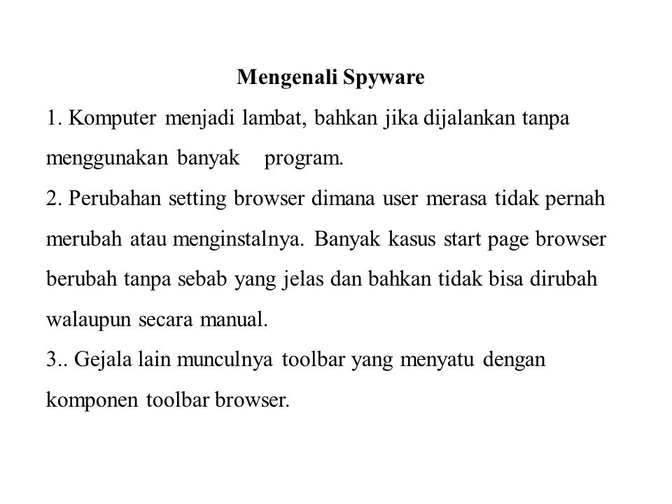Mengenali Spyware