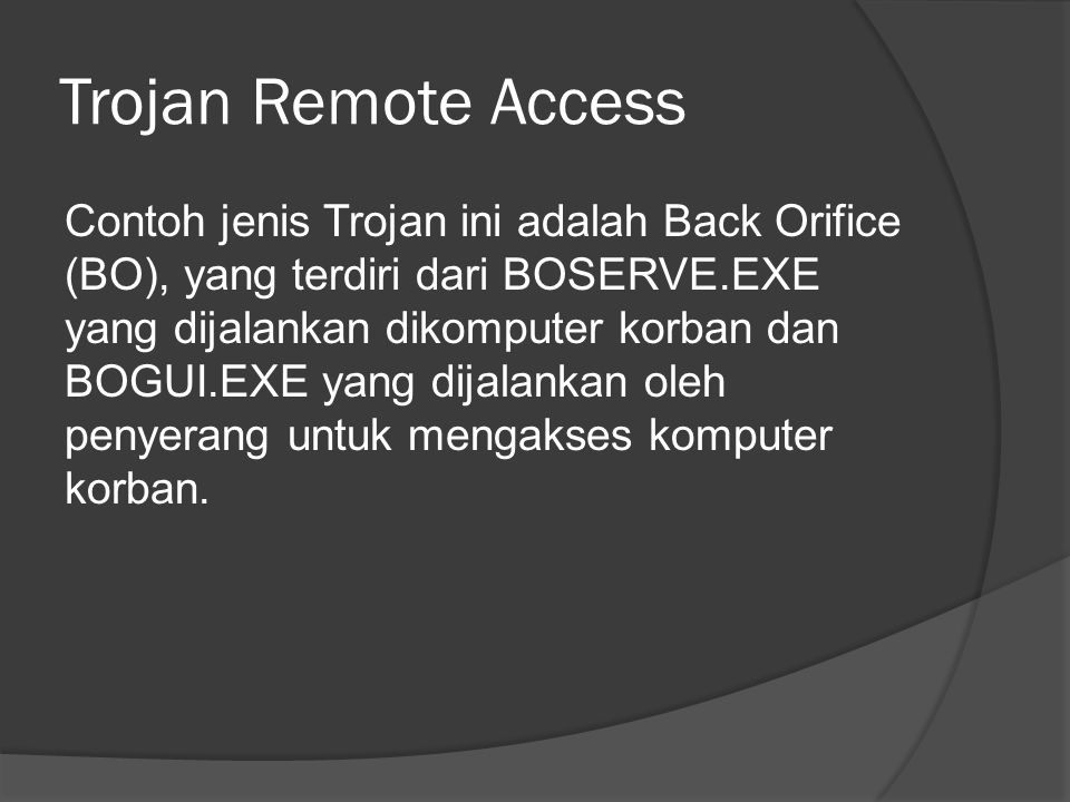 Trojan Remote Access