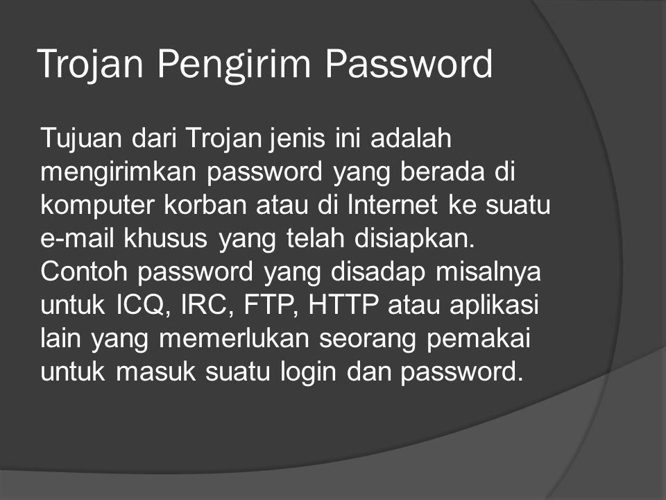 Trojan Pengirim Password