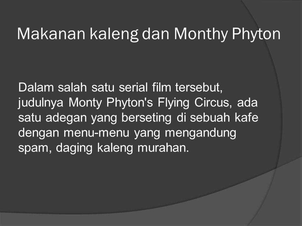 Makanan kaleng dan Monthy Phyton
