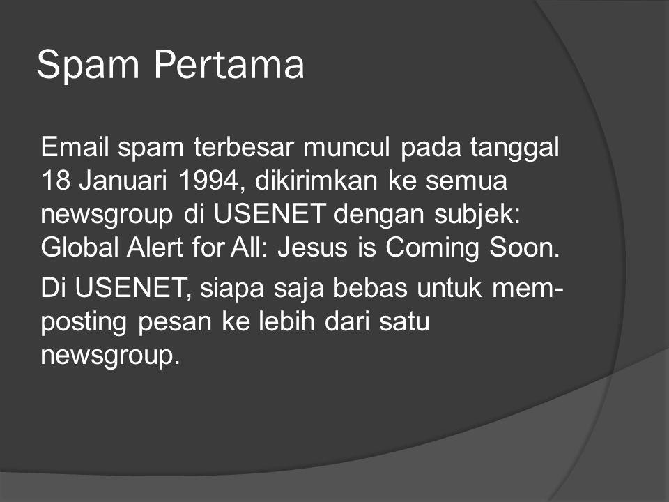 Spam Pertama