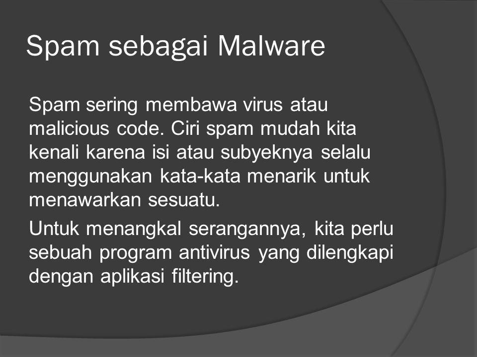 Spam sebagai Malware