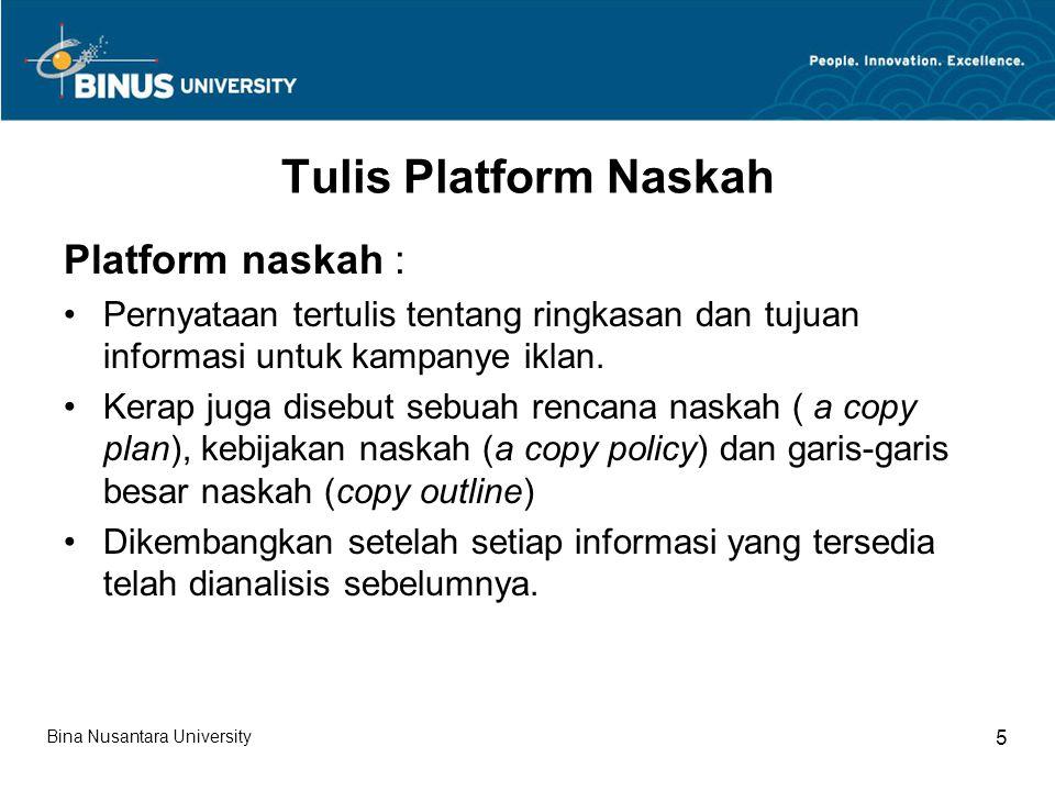Tulis Platform Naskah Platform naskah :