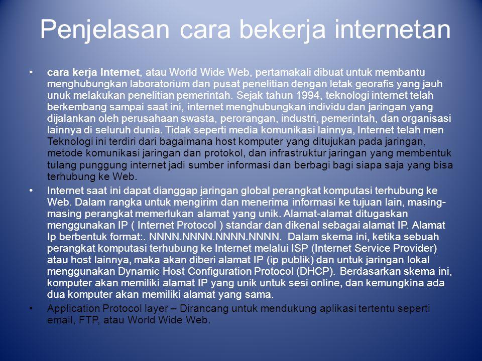 Penjelasan cara bekerja internetan