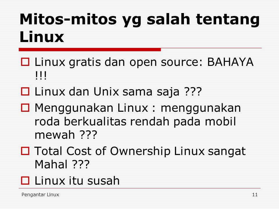 Mitos-mitos yg salah tentang Linux