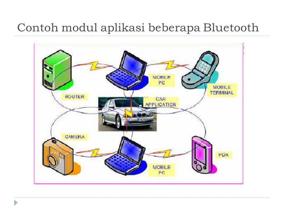 Contoh modul aplikasi beberapa Bluetooth