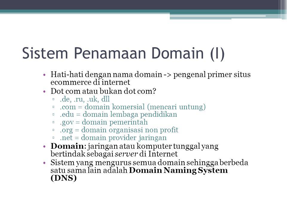 Sistem Penamaan Domain (I)