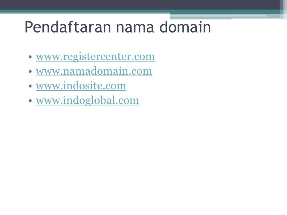 Pendaftaran nama domain