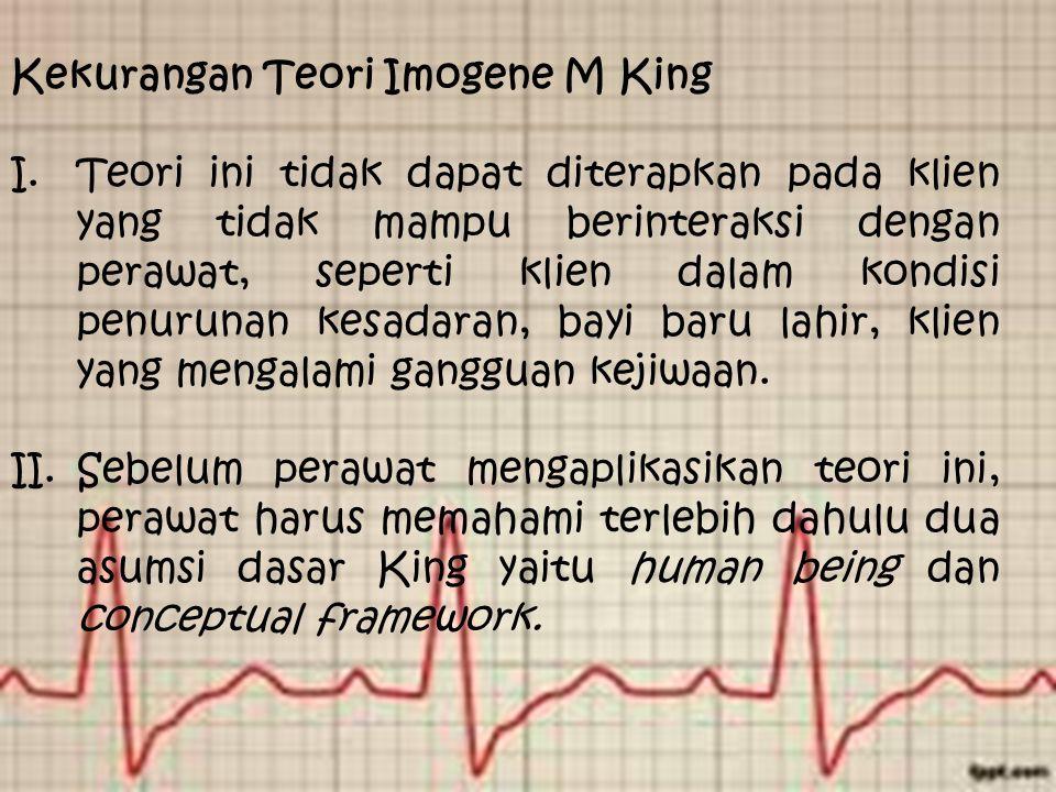 Kekurangan Teori Imogene M King