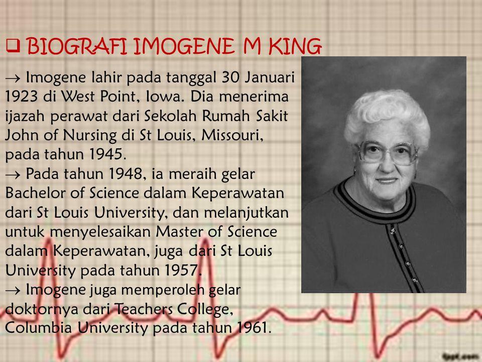 BIOGRAFI IMOGENE M KING