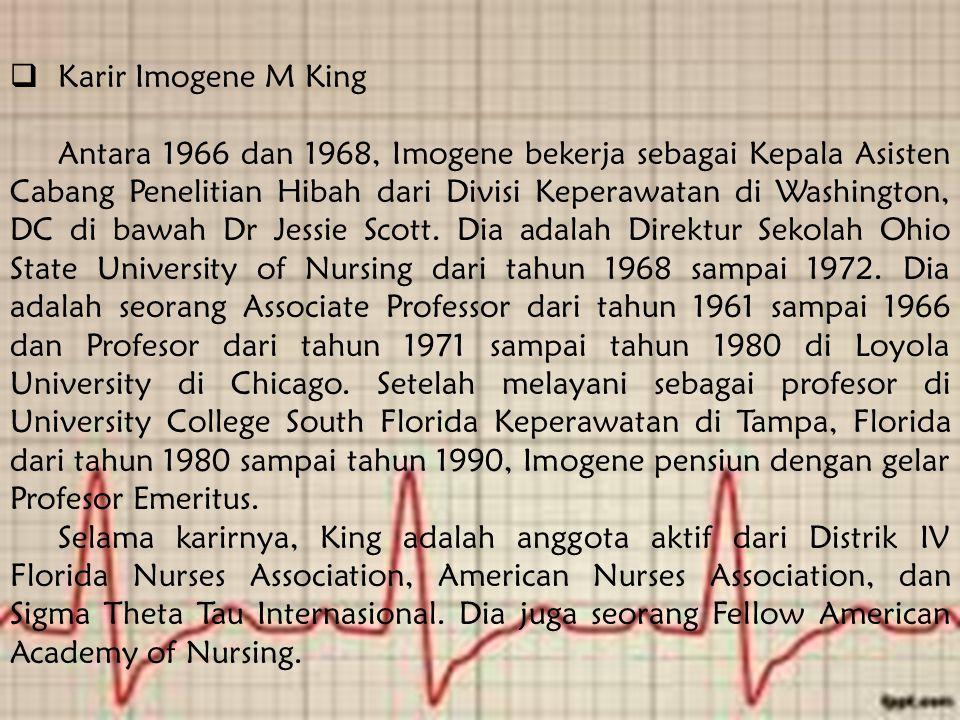 Karir Imogene M King