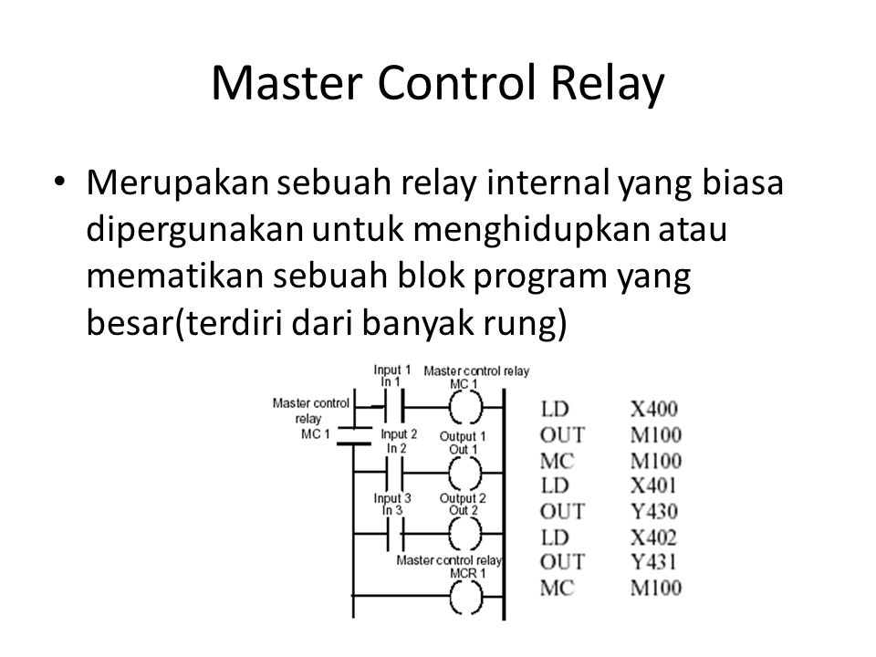 Master Control Relay