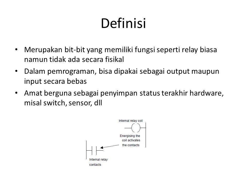 Definisi Merupakan bit-bit yang memiliki fungsi seperti relay biasa namun tidak ada secara fisikal.
