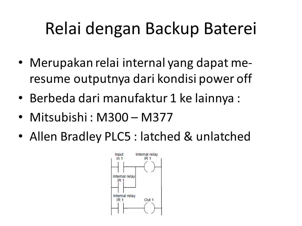 Relai dengan Backup Baterei