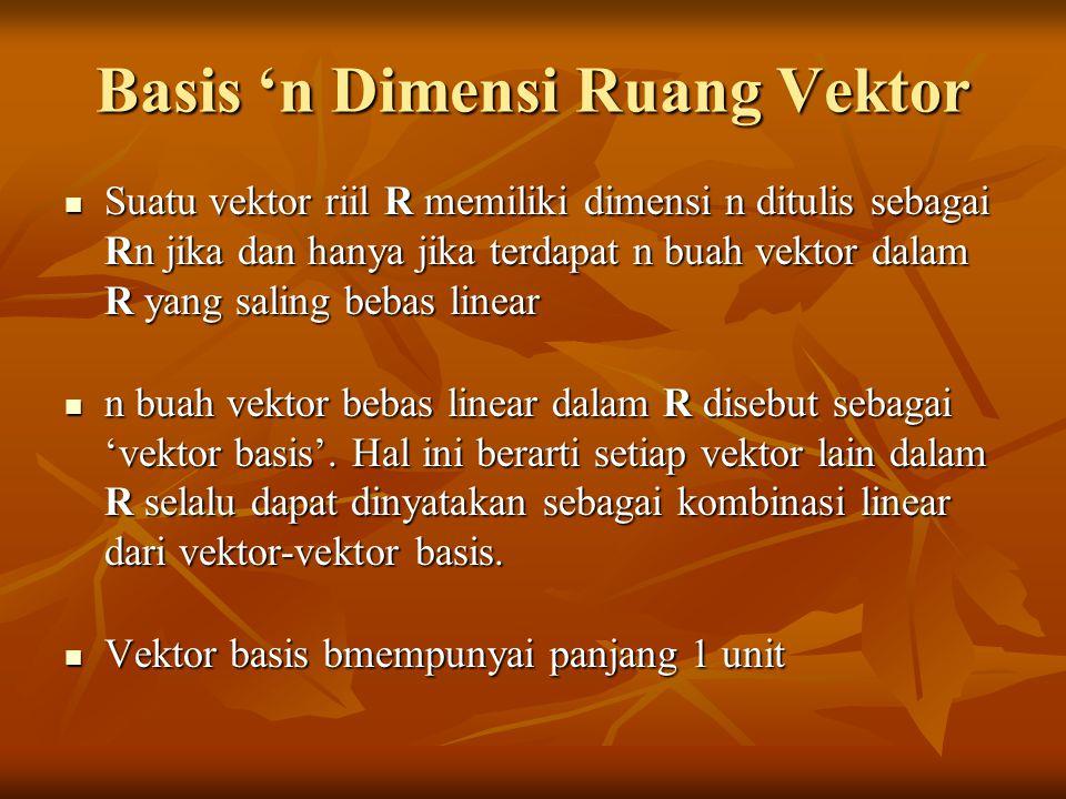 Basis 'n Dimensi Ruang Vektor
