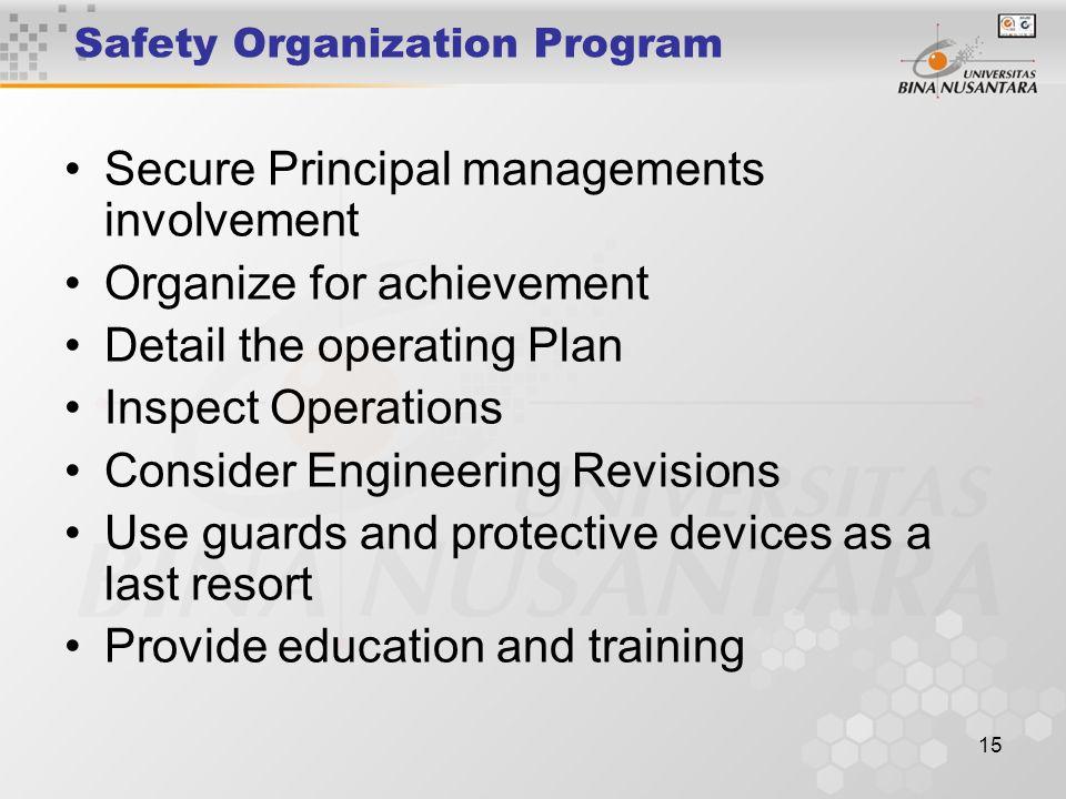 Safety Organization Program