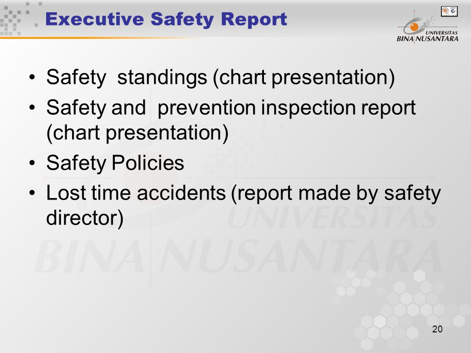 Executive Safety Report