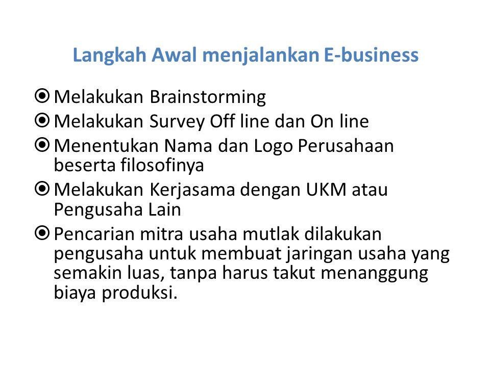 Langkah Awal menjalankan E-business