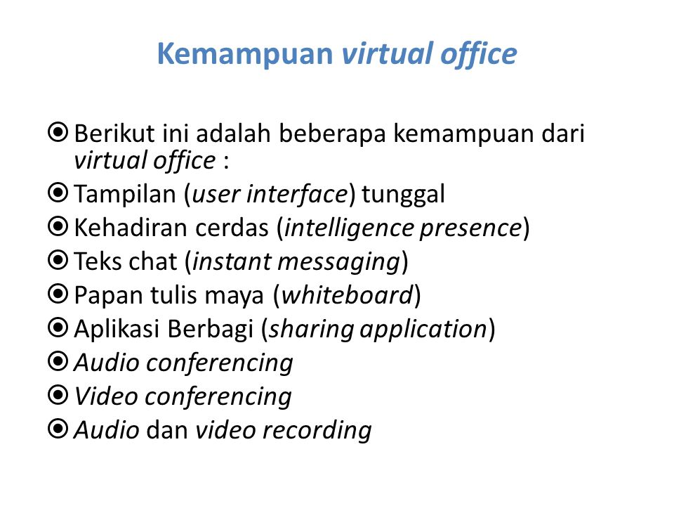 Kemampuan virtual office