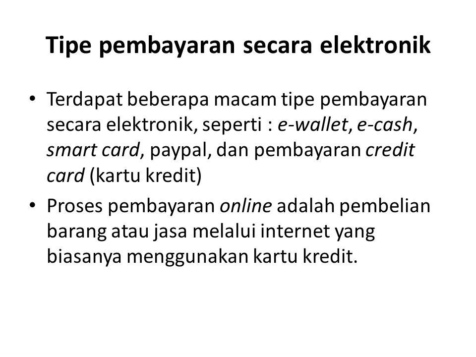 Tipe pembayaran secara elektronik