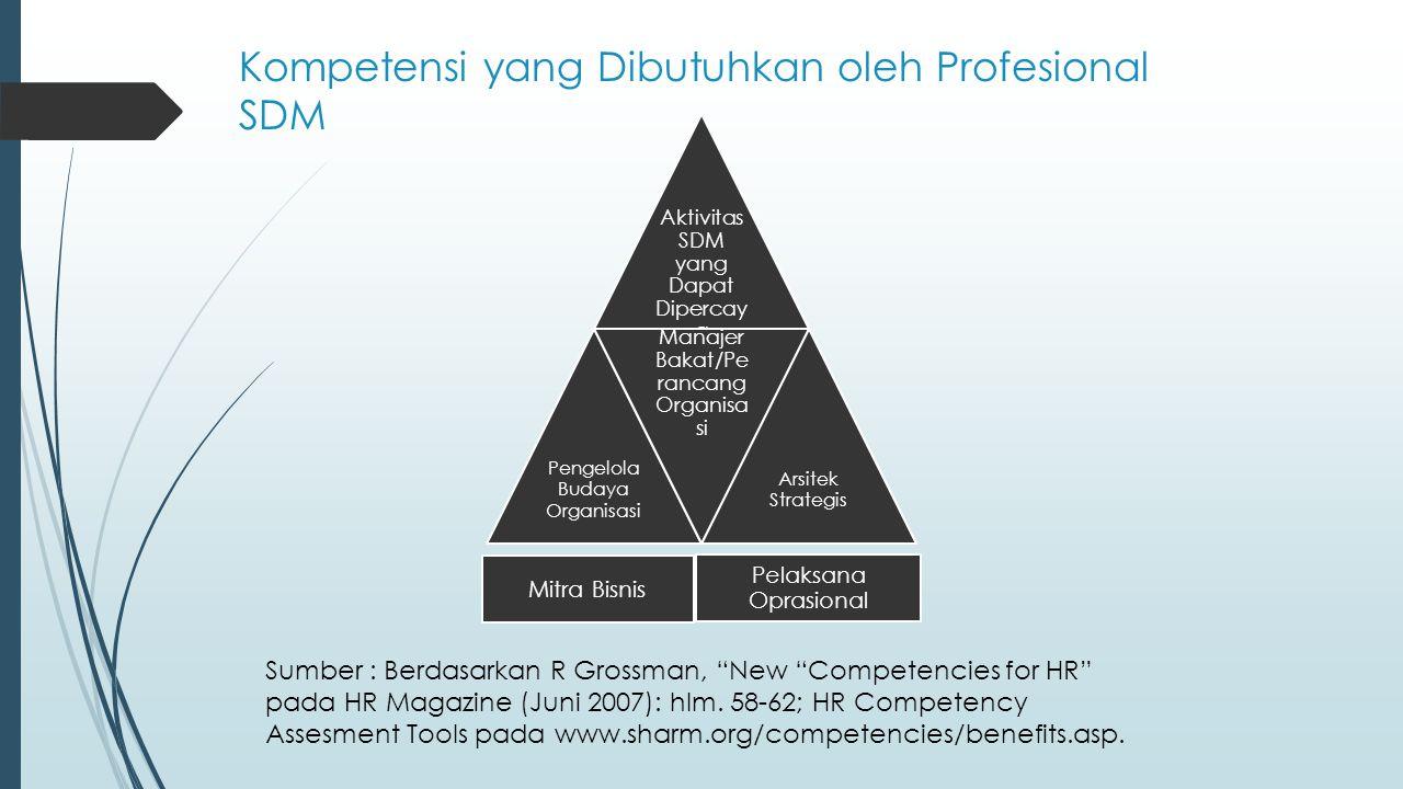 Kompetensi yang Dibutuhkan oleh Profesional SDM