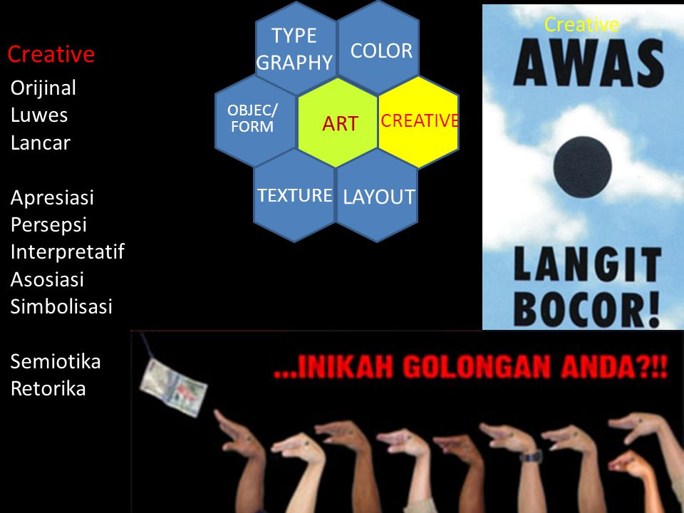 Creative Creative TYPE GRAPHY COLOR Orijinal Luwes Lancar ART