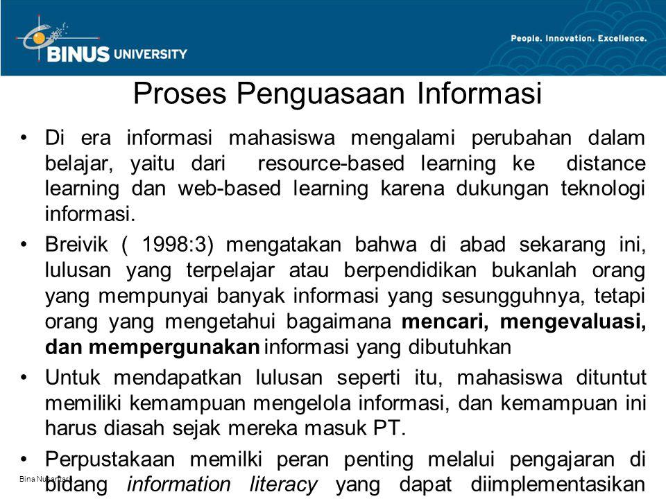 Proses Penguasaan Informasi