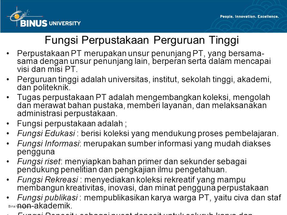 Fungsi Perpustakaan Perguruan Tinggi