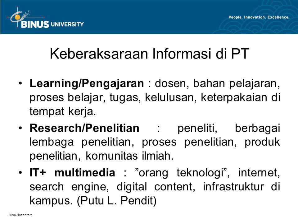 Keberaksaraan Informasi di PT