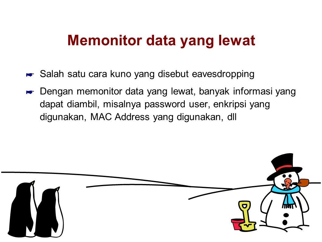 Memonitor data yang lewat