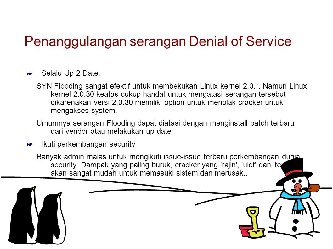 Penanggulangan serangan Denial of Service