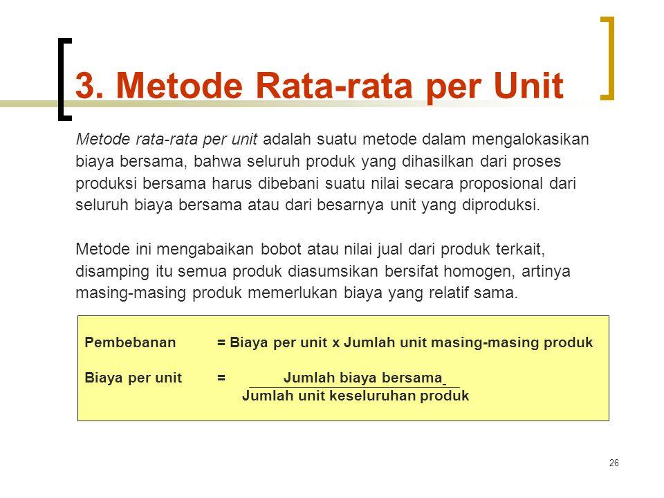3. Metode Rata-rata per Unit