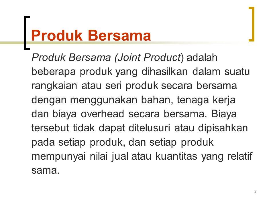 Produk Bersama Produk Bersama (Joint Product) adalah