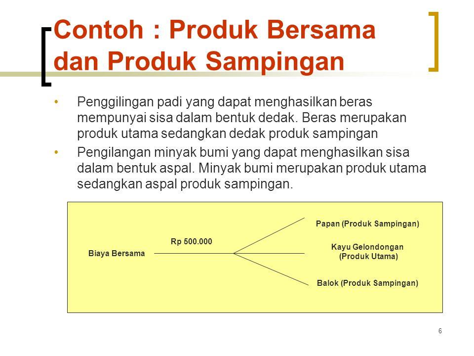 Contoh : Produk Bersama dan Produk Sampingan