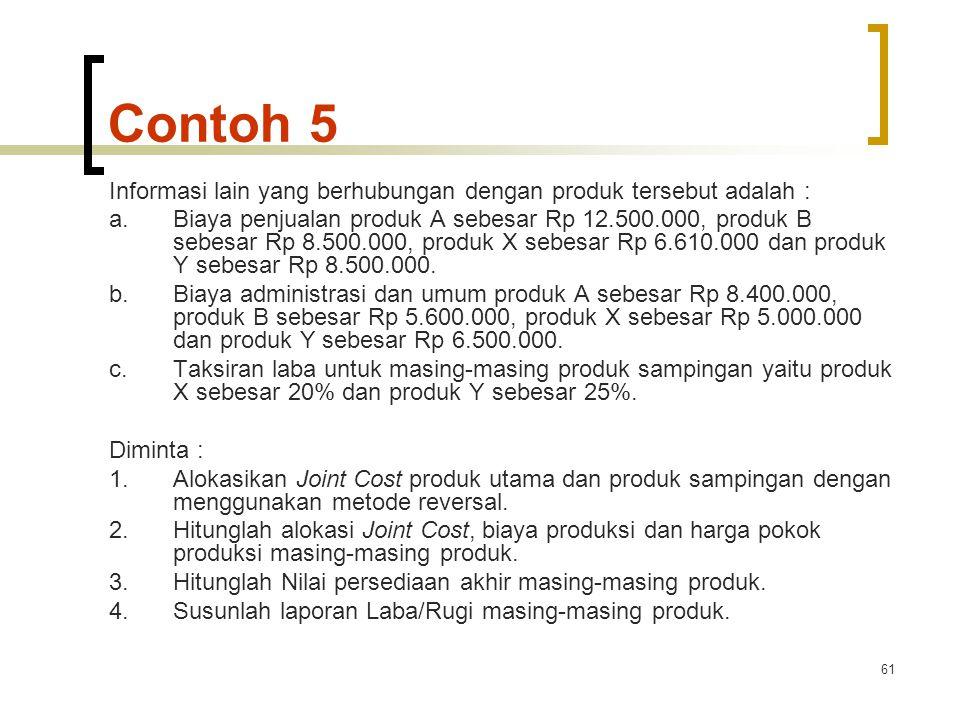 Contoh 5 Informasi lain yang berhubungan dengan produk tersebut adalah :