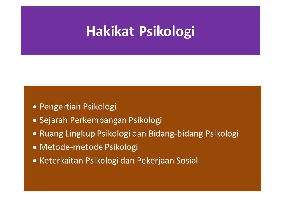 Hakikat Psikologi Pengertian Psikologi Sejarah Perkembangan Psikologi