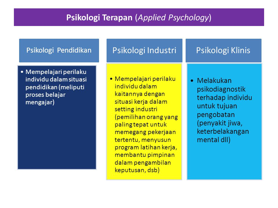 Psikologi Terapan (Applied Psychology)