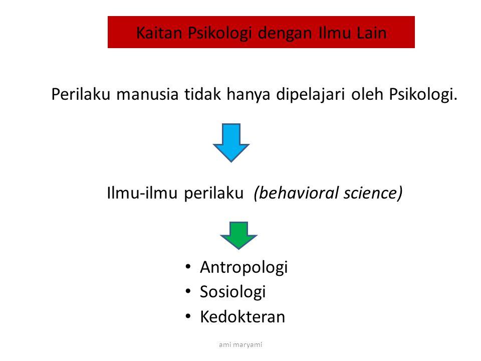 Kaitan Psikologi dengan Ilmu Lain