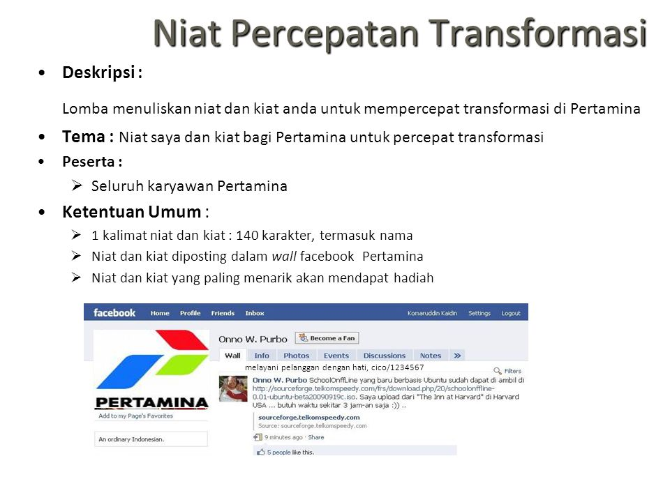 Niat Percepatan Transformasi