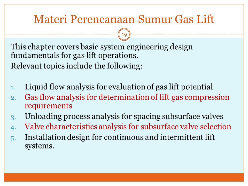 Materi Perencanaan Sumur Gas Lift