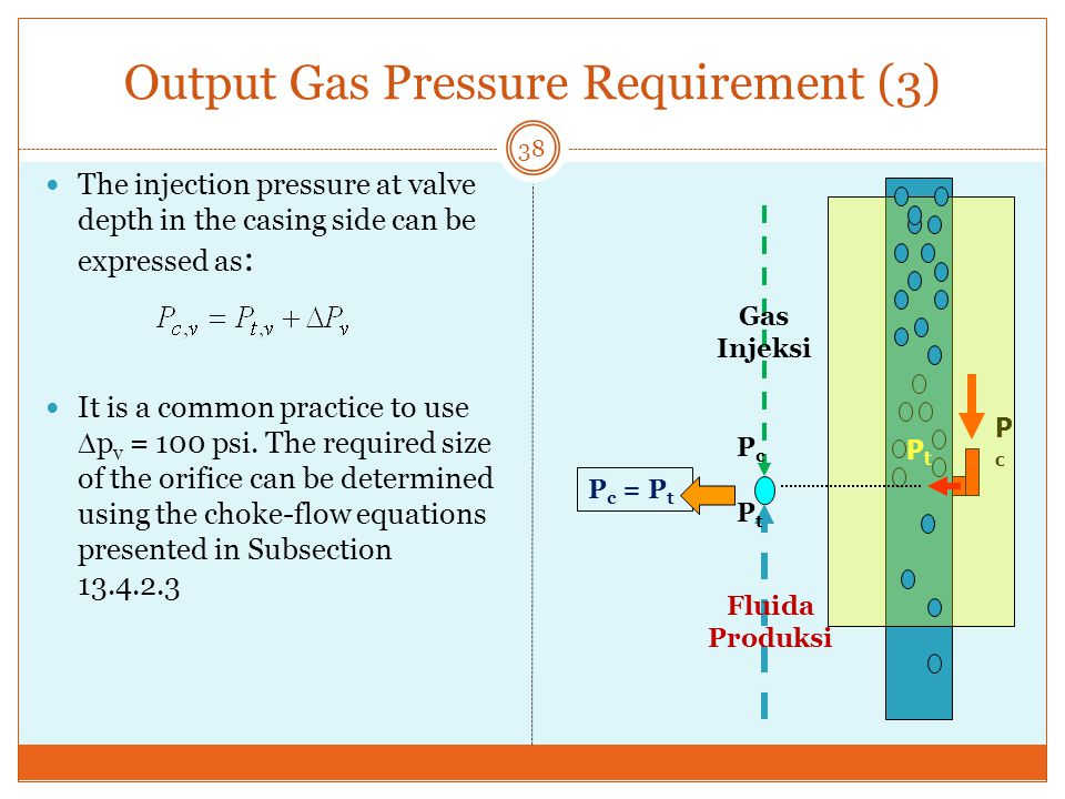 Output Gas Pressure Requirement (3)